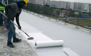 R.C. Gutter / Waterproofing Of R.C Flat Roofs: