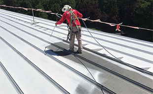 Re-Coating Of Roofs